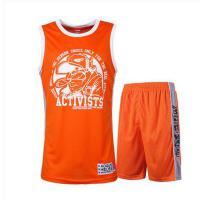 训练背心篮球衣 队服套装定制 可印号印字 带口袋街头篮球服