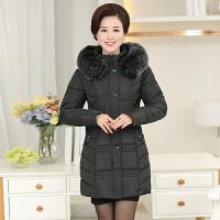 【天天】中老年女装冬装棉衣中年妈妈羽绒外套加厚中长款