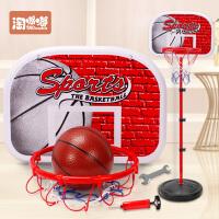 儿童篮球架可升降室内投篮框宝宝皮球男孩球类玩具2-3-5-6周岁10