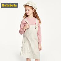巴拉巴拉童装女童连衣裙儿童裙子新款秋装洋气灯芯绒背带裙女