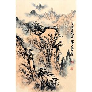 董寿平  山水