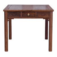 家具 实木餐桌古典中式木方桌八仙桌带抽餐桌