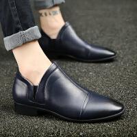 DAZED CONFUSED男鞋冬季男士皮鞋男商务正装英伦尖头套脚休闲皮鞋子小皮鞋 男