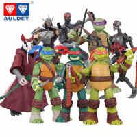 奥迪双钻忍者神龟模型 动漫公仔套装 可动人偶摆件玩具