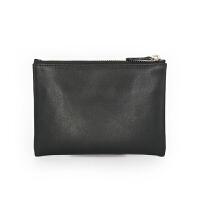 零钱包软皮短款小钱包拉链硬币包卡包男女零钱袋薄 黑色