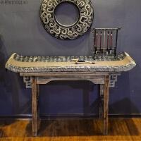 玄关柜子中式实木家具门前斗柜翘头柜条案几抽屉榆木雕花明清供桌 整装 整装