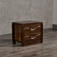 中式卧室实木家具黑胡桃木床头柜现代中式储物柜床边 要和床配套 整装