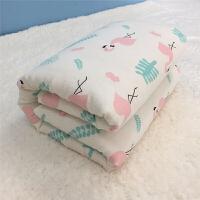 君别可拆内胆 棉花被 纱布芯婴儿盖毯儿童幼儿园被子120*150 斑马 2斤(含被芯+被套)