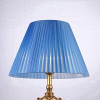 灯罩外壳配件布艺台灯落地创意卧室客厅蓝色结婚庆装饰圆欧式美式