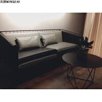服装店北欧沙发椅工业风沙发组合单双人简约现代办公沙发铁艺 组合