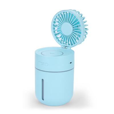 usb充电款小型喷雾制冷小风扇学生宿舍加湿器静音办公室桌上风大
