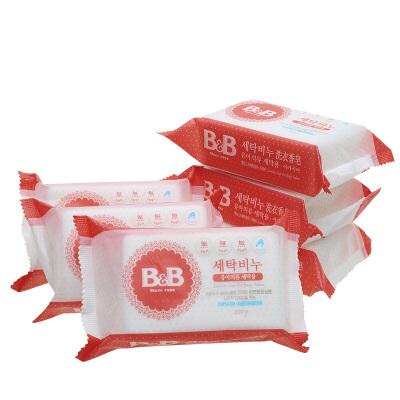 韩国保宁皂bb皂 宝宝洗衣皂婴儿肥皂儿童洋槐香尿布皂200g*6连包