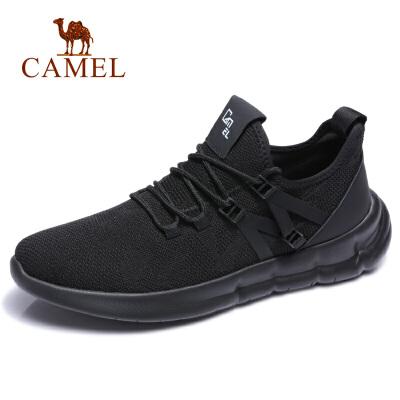 camel骆驼男鞋秋冬季款运动休闲鞋韩版拼接青年学生时尚飞织老爹鞋