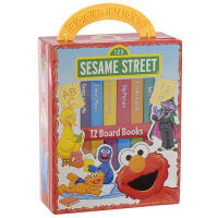 英文原版 芝麻街:口袋书12本套装 Sesame Street My First Library Set