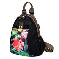 时尚女包新款牛津布双肩包民族风布艺休闲大容量旅行背包