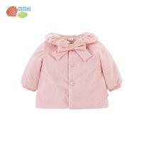 贝贝怡女童夹棉加厚外套冬装新款小公主保暖防风棉服184S586