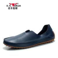 公牛世家 男鞋夏透气新款豆豆鞋男韩版男士懒人鞋888064