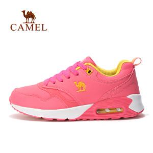 camel骆驼户外女款跑鞋 系带透气越野跑鞋