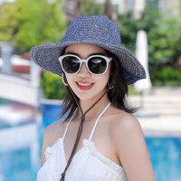 韩版潮流太阳帽女百搭防晒阳帽子 女士户外沙滩凉帽复古编织草帽子