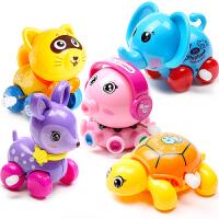 可爱卡通发条玩具车小动物宝宝趣味上链学爬男女孩会跑的宝宝玩具