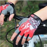 手套 男女骑行手套 户外运动手套 男女士耐磨透气防滑运动户外骑行手套半指运动健身手套男山地车