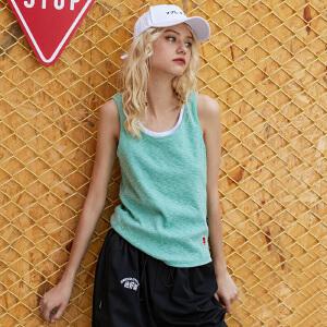PASS2018新款吊带小背心工字韩版修身外穿无袖女夏短款内搭打底衫