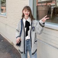 MG小象秋装2019新款宽松针织衫女复古长袖毛衣慵懒风外搭开衫外套