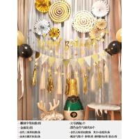 生日派对装饰气球创意黑金生日布置背景墙宴会装饰用品气球男朋友派对生日套餐