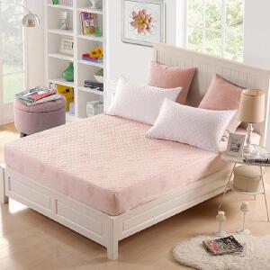 【领券立减100元】优雅100纯色床笠单件床罩床垫套1.5m1.8床套床单席梦思床垫保护套