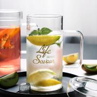 光一带把玻璃茶杯透明水杯耐高温ins超火的杯子女牛奶杯大号家用加厚