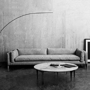 【年终狂欢 限时直降 质保三年】北欧舒适系亲肤沙发W1836-B 组合沙发转角沙发牛皮沙发羽绒沙发乳胶沙发