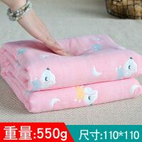 婴儿浴巾 宝宝新生儿童洗澡6层纱布被子盖毯毛巾被 柔吸水