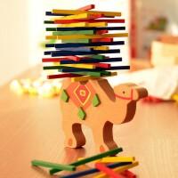 儿童益智木制玩具动物平衡游戏叠叠乐亲子早教木质大象骆驼叠叠棒