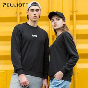 【到手价:129】伯希和套头卫衣 新品男女学生宽松打底衫圆领透气情侣运动外套