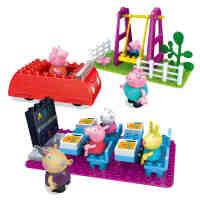 邦宝积木正版小猪佩奇儿童益智玩具粉红猪小妹的校园生活A06081