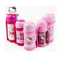 迪士尼儿童保温杯凯蒂猫保温吸管杯小学生水壶水杯不锈钢 .