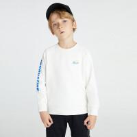 安奈儿童装男童春季卫衣长袖2021新款洋气机器人印花中大童套头衫2