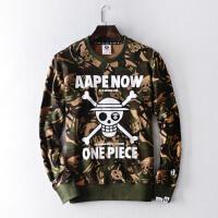 Aape猿人头海贼王印花迷彩套头卫衣AAPSWW8846XX7