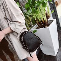 新款韩版多用迷你女单肩斜跨小休闲女包包 黑色小号 1801