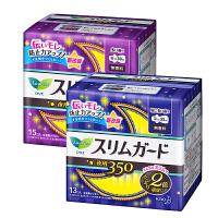 花王(KAO) 日夜用卫生巾 日本进口 S系列轻薄棉柔护翼型组合套装28片 夜用S15*1+S13*1(新老包装随机发
