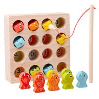 儿童磁性钓鱼玩具 宝宝小猫钓鱼套装小孩玩具1-3-6周岁益智男孩女