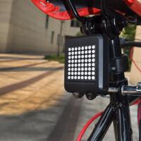 山地车智能感应刹车灯自行车智能激光尾灯转向灯骑行装备单车配件