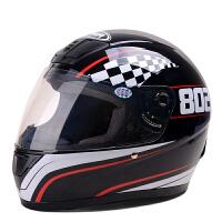 野马802摩托车头盔男士 四季全覆式机车赛车跑车安全帽女 带冬季围脖