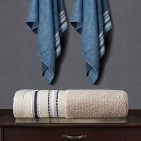 两条竹纤维毛巾吸水不掉毛洗脸竹炭面巾洗澡浴巾柔软家用三件套