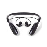 Edifier 漫步者 W360BT 无线 挂颈式蓝牙耳机入耳式运动跑步音乐带 黑色