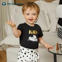 [斑点狗IP]Mini Balabala童装儿童T恤2021年春新款纯棉儿童短袖