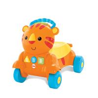 费雪二合一老虎学步车(双语)多功能推车学步车宝宝手推车CDC21