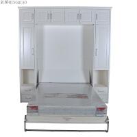 隐形床壁床 翻板床壁柜床五金配件 多功能床创意侧翻床折叠床双人