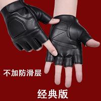 半指手套男冬保暖加绒加厚户外秋冬骑行战术特种兵防滑露指皮手套