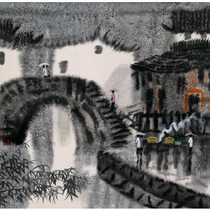 画家   徐希《雨中》